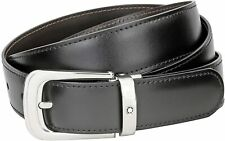 Casual belt montblanc black Brown leather Reversible  106603  Horseshoe Gent