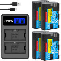 LP-E6 Battery + LCD Charger for Canon EOS 5D Mark III II 6D 7D 70D 60D 80D 5Ds
