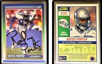 Rufus Porter Signed 1990 Score #332 Card Seattle Seahawks Auto Autograph