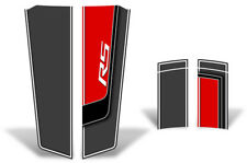 Chevy Camaro Hood & Trunk Race Stripes Graphics Stickers Decals 10-15 RED RS