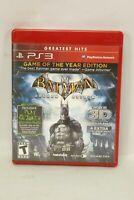 Batman Arkham Asylum Game of the Year Greatest Hits (Sony PlayStation 3, 2010) P