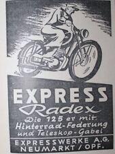 Obras Express Radex Neumarkt motocicleta bombardeados Anno 1950 publicitarias publicidad