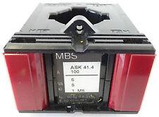 MBS ASK 41.4 Aufsteck-Stromwandler Messwandler Pri.100A Sek. 5A 5VA KL.1 M5