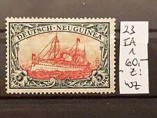 Dt. Auslandspostamt & Kolonien > Deutsch-Neuguinea Mi.Nr: 23 I AI. Gummi frei.