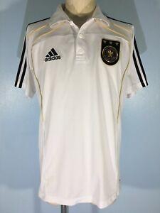 GERMANY NATIONAL 2010 ADIDAS POLO TRAINING FOOTBALL SHIRT SOCCER KIT JERSEY M