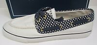 Sperry Top Sider Size 11 White Canvas Boat Shoes New Womens Sneakers