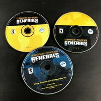 Command & Conquer: Generals --  (PC, 2003) discs only w/ Bonus Officer's Club CD