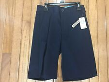New Boys SZ 12 Dockers Shorts School Uniform Blue Adjustable Flat Front (T14-15)