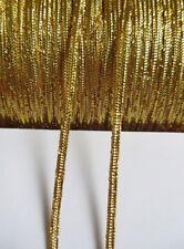 2 MM Metallic Golden Braided Mini Tape / Trim / Ribbon Christmas- 5 Yards-T1021