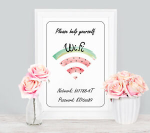 Wifi Password, Be Our Guest, Guest Wifi Art, Guest Room Print, Wall Art