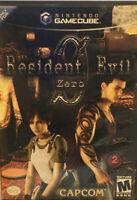 Resident Evil Zero 0 for Nintendo GameCube Complete CIB NTSC By Capcom GC