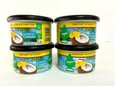 Little Trees Fiber Can Car Air Freshener 4-Pack (CARIBBEAN COLADA)