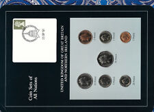 Coin Sets of All Nations Great Britain 1985-1987 UNC 1 £, 10 Pence 1987