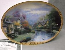 Thomas Kinkade collector plate Lamplight Brooke, 1st in series Lamplight Village