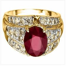 Ruby Yellow Gold 14k Engagement Rings
