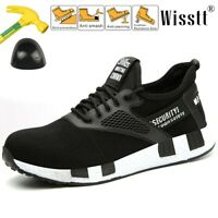 Men Work Safety Shoes Steel Toe Mesh Boots Indestructible Breathable Light Hiker