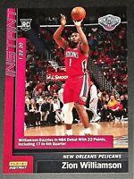 "2019-20 Panini Instant ""Zion Williamson"" Rookie NBA Pelicans Card #76"