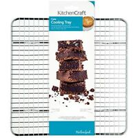 Kitchencraft Chrome-plated Wire Mesh Cake Cooling Rack / Trivet, 25.5 x 25.5cm