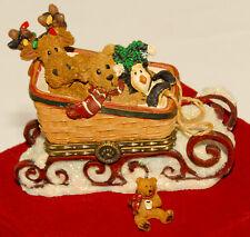 Longaberger - Boyds 2008 CHRISTMAS TREASURE BOX Sleigh Basket 🎄 *RARE! *In BOX