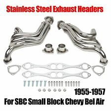 For 1955-1957 Small Block Chevy Car 150 210 Bel Air Chassis Headers Stainless