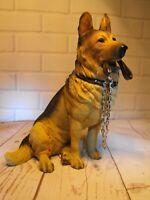 ALSATIAN FIGURE  FIGURINE GERMAN SHEPHERD FIGURE # MODEL Alsation Dog ORNAMENT