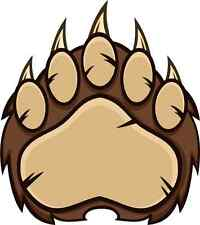 30 Custom Brown Bear Paw Personalized Address Labels