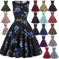1950s Vintage Style Floral Full Circle Dress Party Prom Cocktail Evening Dress