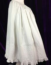 New listing Victorian 1880s Bustle Petticoat White Cotton Antique
