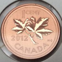 2012 Specimen Canada Copper 1 One Cent Penny Uncirculated Canadian Coin B991
