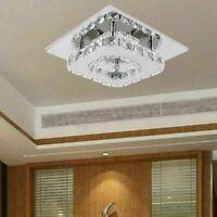 12W Luxus LED Decken Lampe Kristall Leuchte Wohn Zimmer Flur Beleuchtung Weiß