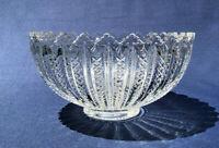 Antique Duncan & Miller Co. clear pressed glass punch bowl,  MARDI GRAS c.1894