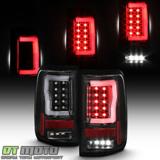 Black 2004-2008 Ford F150 LOBO Full LED Tube Tail Lights Brake Lamps Left+Right