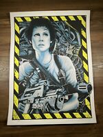 Aliens Art Print Poster By Steven Luros Holliday Gallery F Mondo Signed XX/150