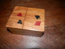 Handcrafted Wooden Playing Card Holder, Dove Tail Joints, Holds 2 Sets of Cards