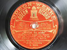 78rpm MARIA LABIA + JADLOWKER sing VERDI DUET Un Ballo in Maschera - ODEON 1909
