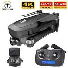 Mini Drone Selfi Foldable Quadcopter GPS Wifi FPV 4K HD Arm RC Dual HD Camera US