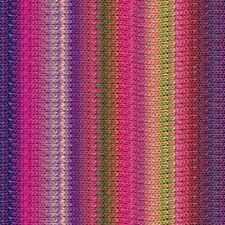 NORO ::Taiyo #95:: cotton silk wool yarn Purple-Fuchsia-Greens-Yellow