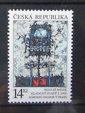 Czech Republic 1993 Europa Contemporary Art set MNH