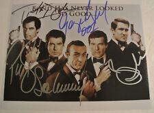 JAMES BOND 007 Actors Sean Connery Brosnan Moore Dalton Lazenby AUTOGRAPH Photo