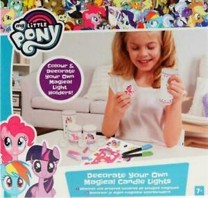 My Little Pony Make Your Own Magical Candle Holders / Glitter Dome Art Craft Set