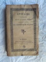 ANNUAIRE HISTORIQUE POUR L'ANNEE 1839