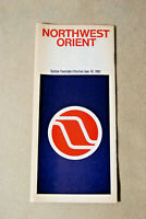 Northwest Orient Airlines System Timetable - June 10, 1982