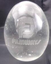 Glass Art Filmways Paperweight Water Bubbles