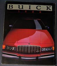1988 Buick Brochure Regal Riviera Century Skylark LeSabre Electra Park Avenue 88