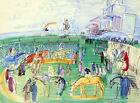 Framed canvas art print Giclee Paddock à Nice