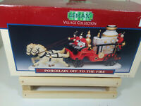 "Lemax Village Collection ""Porcelain off to the Fire IOB"