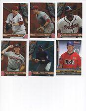 2011 Lot Of 10 Bowman Baseball Inserts & Freddie Freeman Rookie Card.