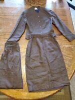 Vintage Womens Weathervane Tweed 3 Piece Suit Pants Skirt Blazer Houndstooth (cb
