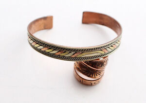 Solid Copper Meditation Open Cuff Bracelet, Wrist Copper Bangle