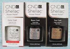 CND Shellac UV LED Gel Power Polish 3-pc Set STUDIO WHITE, BASE & TOP COAT Auth